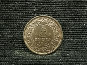 India, George V, 1/12th Anna 1933, EF, JAT1015